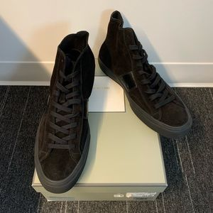 Men's Tom Ford Suede High Top Sneakers, size 13